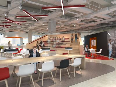 【众创办公】成都XNode创极无限众创空间办公室丨效果图+CAD施工图+家具图施工图下载