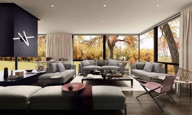 意大利B&BItalia品牌 现代客厅沙发组合3D模型