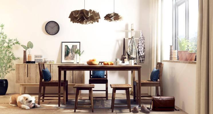 北欧餐厅 现代餐厅 现代餐桌椅 北欧餐桌椅 餐椅 饰品 北欧吊灯 现代吊灯