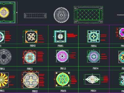 地拼 带配色方案施工图下载