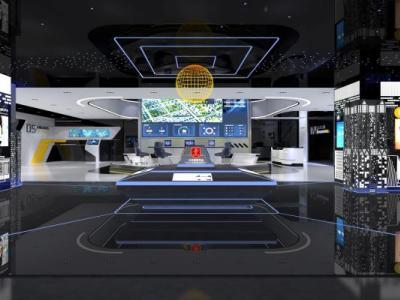 【展厅】福建泉州长威信息科技展厅丨效果图+方案+施工图施工图下载