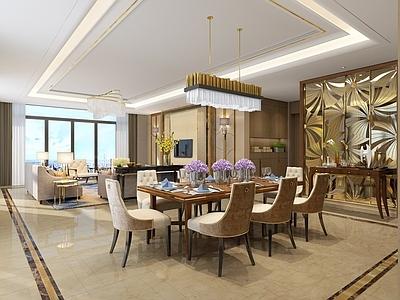 琚宾HSD-重庆招商置地豪宅样板间B户型 设计方案+效果图+施工图施工图下载