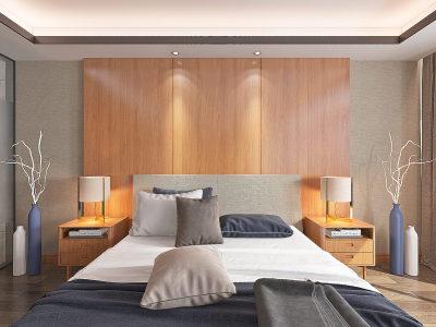 现代卧室 3D全景模型