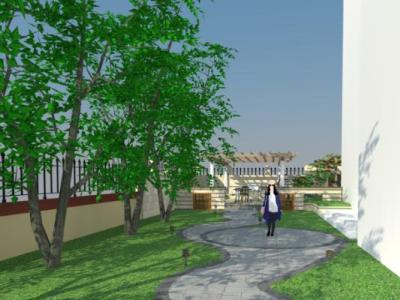 私家别墅庭院景观设计广场SU模型下载【ID:530512472】
