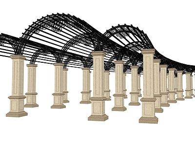 铁艺廊架模型